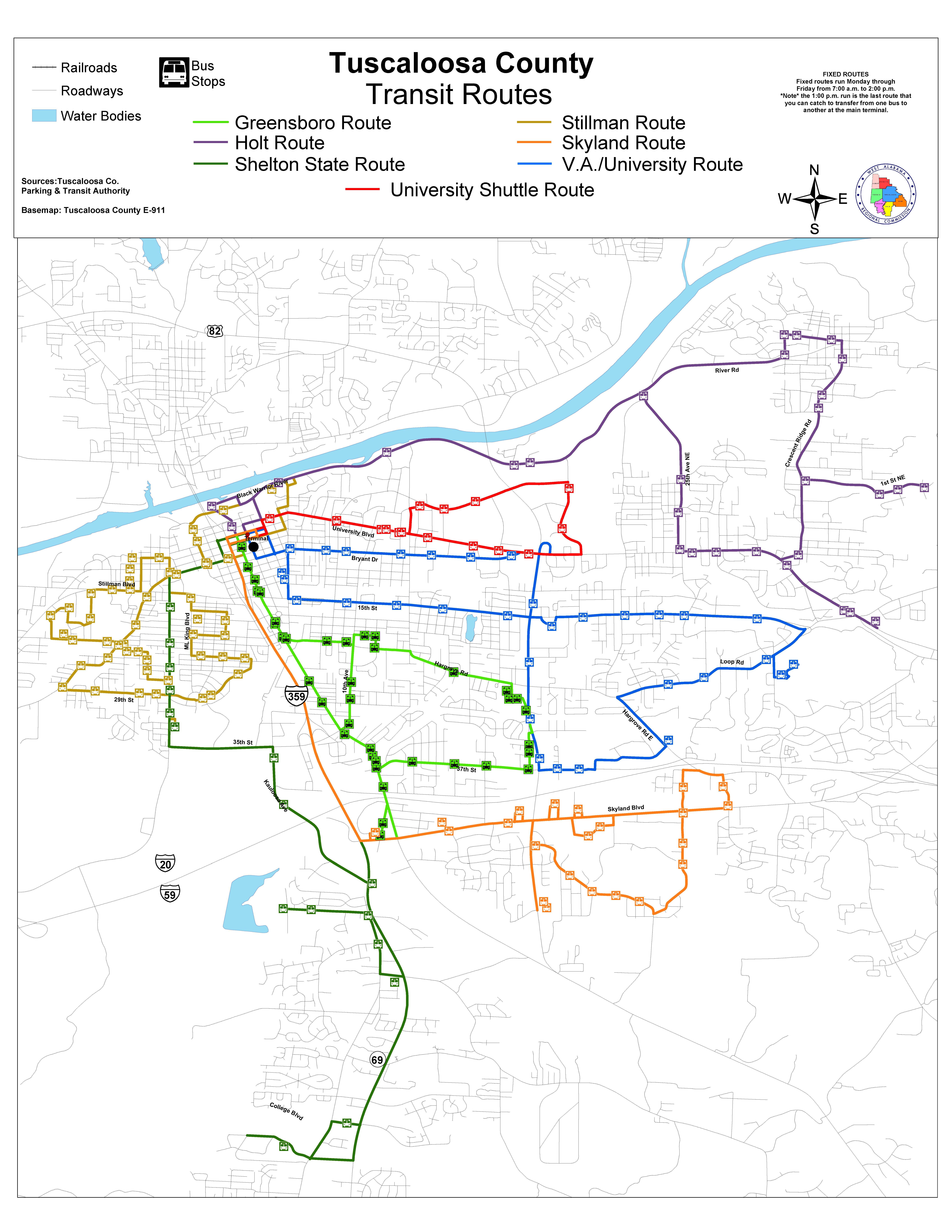 Tuscaloosa Transit Authority - Route Information